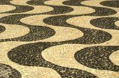 image of carnival rio  - typical sidewalk of Rio de Janeiro designed by Oscar Niemeyer - JPG