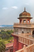 picture of india gate  - Agra Red Fort view on Taj Mahal from the tower - JPG