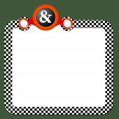 image of ampersand  - Abstract frame for your text and ampersand - JPG