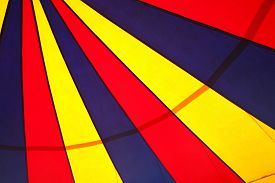 foto of circus tent  - circus tent pattern on a cloth texture - JPG