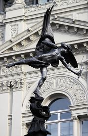 stock photo of ero  - Statue of Eros in Piccadilly Circus - JPG