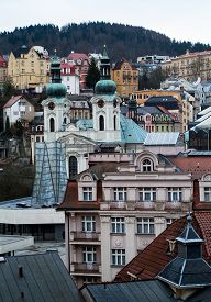 stock photo of magdalene  - a view of Karlovy Vary  - JPG