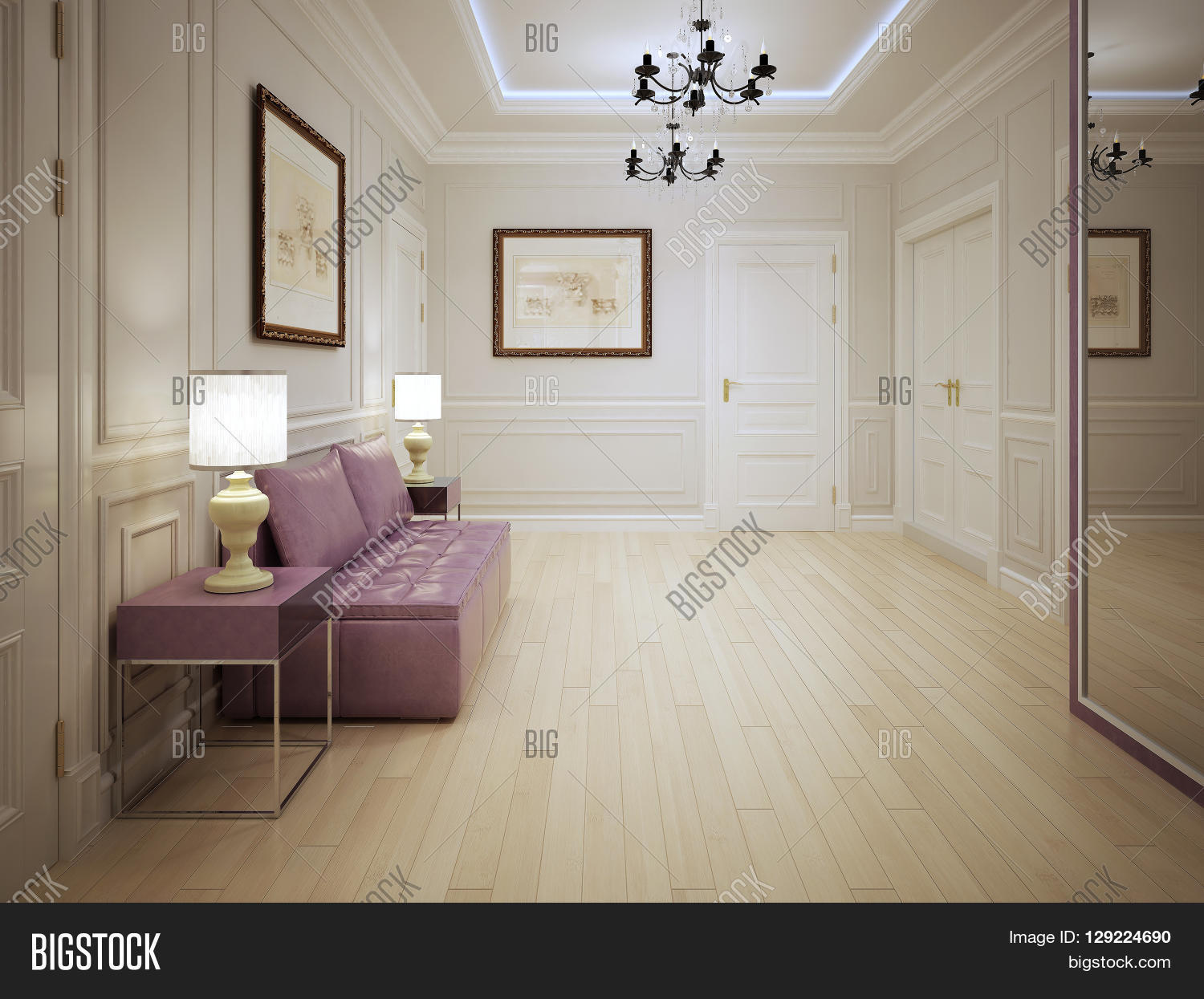 hall entrance furniture. modern style of entrance hall with molded wall panels pink furniture o