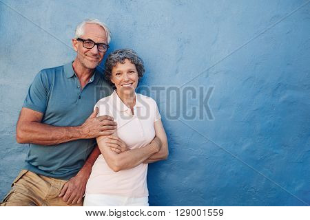 Happy Senior Man And Woman Together