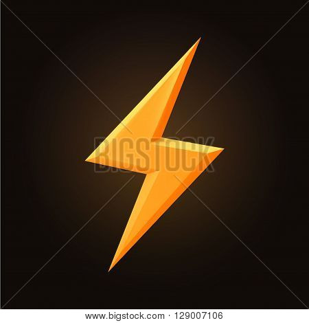 thunderbolt hand drawn vector doodle illustration isolated