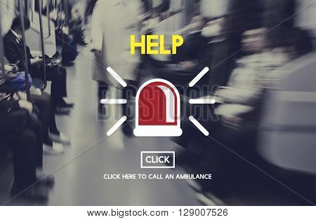 Help Emergency Accident Aid Concept