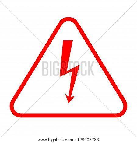 Danger sign with frame. vector illustration of high voltage symbol