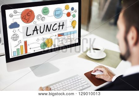 Launch Growth Analysis Data Information Statr up Concept