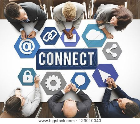 Connect Interconnection Communication Join Concept