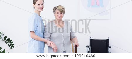 Disabled Woman And Her Caregiver