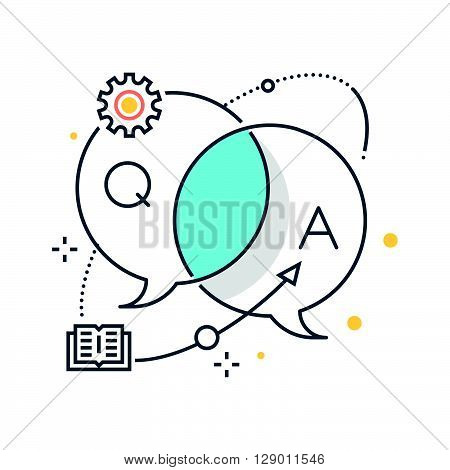 Business dialog concept illustration icon background and graphics. The illustration is colorful flat vector pixel perfect suitable for web and print. It is linear stokes and fills.