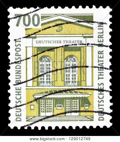 GERMANY - CIRCA 1993 : Cancelled postage stamp printed by Germany, that shows German Theater in Berlin.