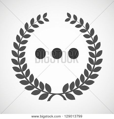 Isolated Laurel Wreath Icon With  An Ellipsis Orthographic Sign