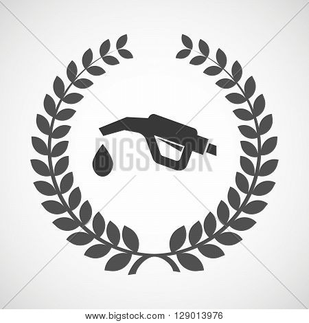 Isolated Laurel Wreath Icon With  A Gas Hose Icon
