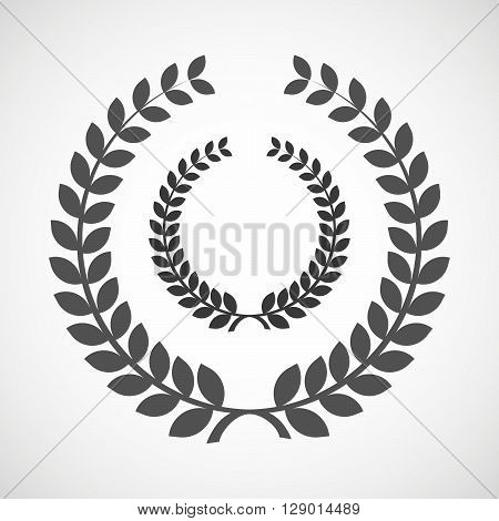 Isolated Laurel Wreath Icon With  A Laurel Crown Sign