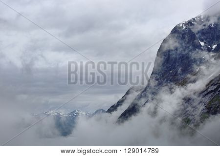 Foggy Mountains In Norway