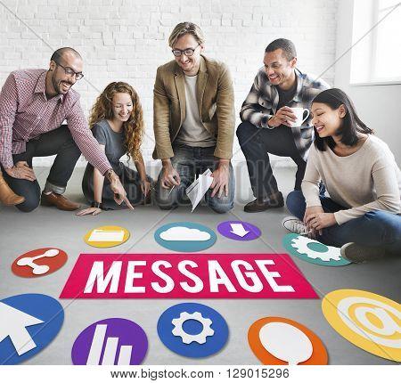Massage Communication People Concept