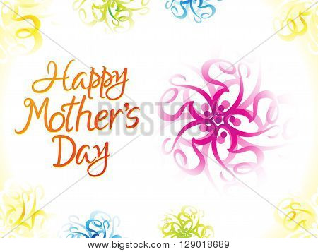 abstract artistic colorful mother's day background vector illustration