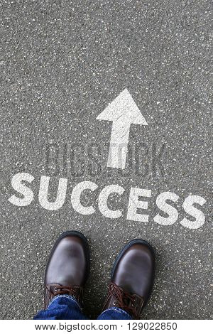 Success Successful Career Business Concept Leadership Plan Strategy