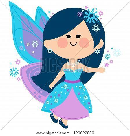 Vector Illustration of a beautiful winter fairy.