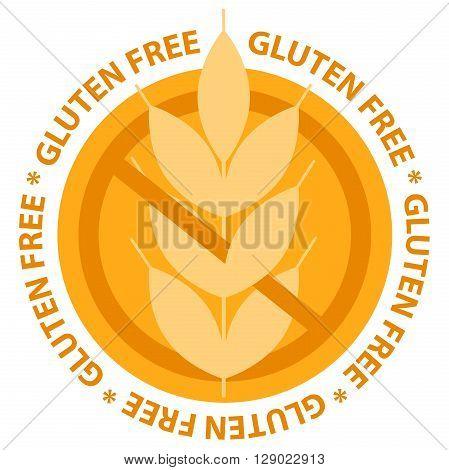 Gluten free food label stamp. Vector illustration