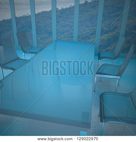 Meeting Room With Glass Chairs