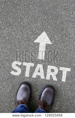 Start Starting Begin Beginning Business Concept Career Goals Motivation