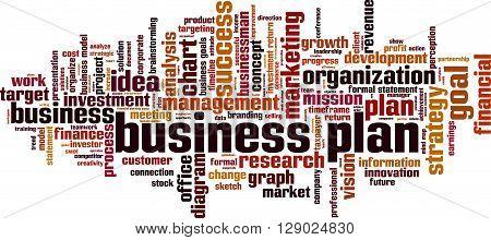 Business plan word cloud concept. Vector illustration