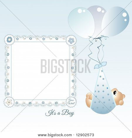 baby boy frame announcement