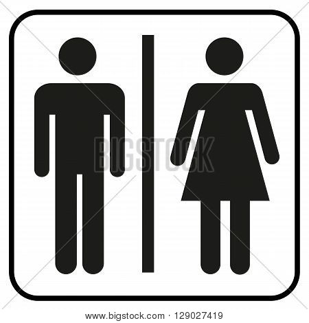 a pictogram of a man and woman WC