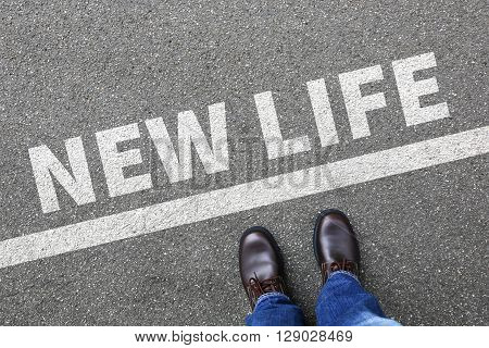 New Life Beginning Beginnings Future Past Goals Success Decision Change