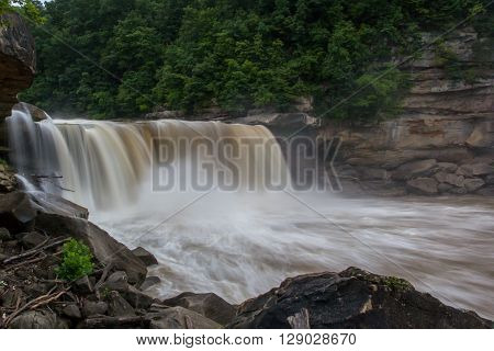 This is a picture of Cumberland Falls located in Kentucky.