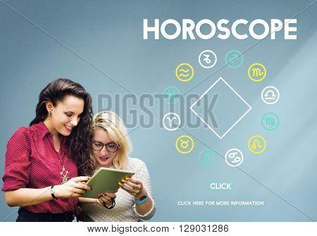 Horoscope Astrology Zodiac Sign Myth Stars Symbol Concept