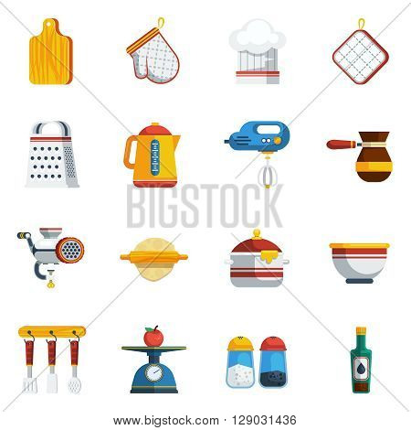 Kitchen Utensils Icons Set. Kitchen Utensils Vector Illustration