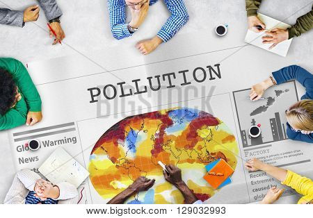 Pollution Dirty Chemical Problem Smog Smoke Concept