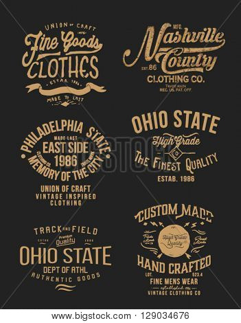 vintage handmade  label collection