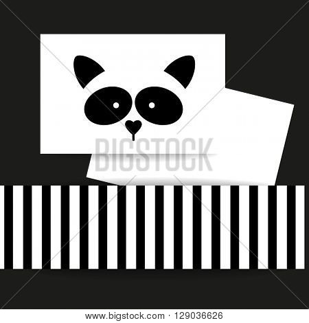 Raccoon logo. Isolated raccoon head on white background. Raccoon identity presentation template. Raccoon mascot idea for logo, emblem, symbol, icon. Vector illustration.