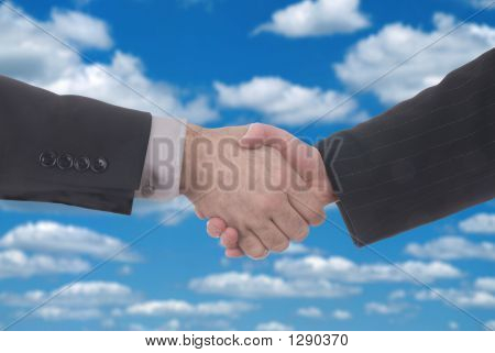 Male And Female Business Handshake