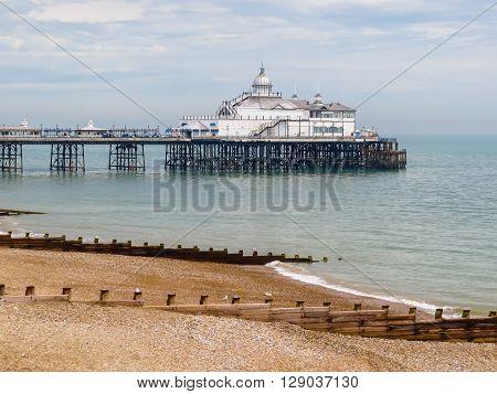 Eastbourne Pier seaside pleasure pier in Eastbourne East Sussex England