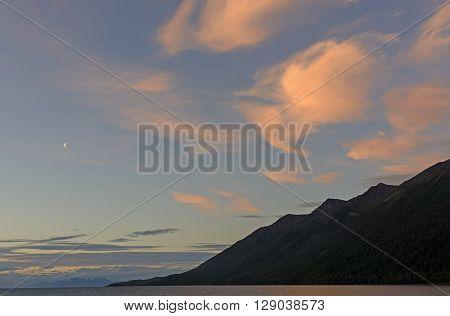 Twilight in a Channel in Tierra del Fuego