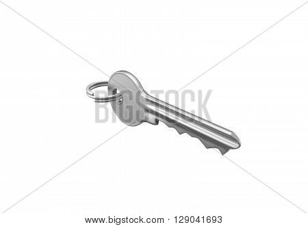 Gold Key With Silver Ring