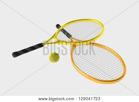 Orange And Yellow Tennis Rackets