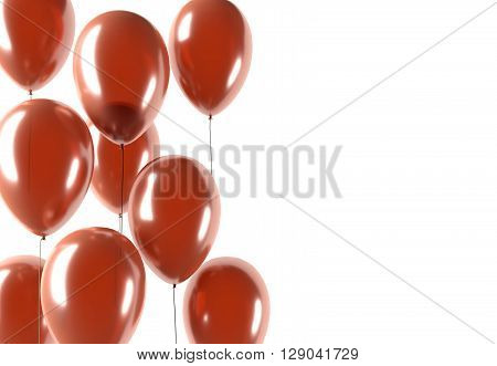 Party Red Balloons