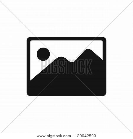 Snapshot icon in simple style isolated on white background. Landscape shot icon