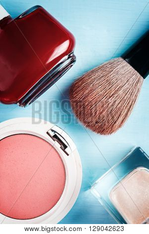 Cosmetics Accessories, Top View