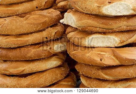 Fragment photo offers and tasty maltese bread, fresh bread