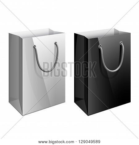 Paper bag. Template for the design of branded packages store or retail chain. Vector illustration