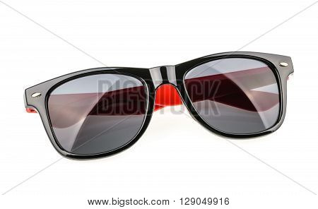 Sunglasses isolated against a white background. close up