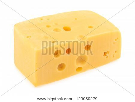 Piece Of Cheese Isolated. All Images Of This Series See My Portfolio