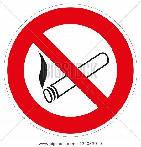a colored shield as asymbol for no smoking allowed